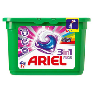Ariel 3In1 Bio Pods 19 Washes - Laundry Capsules